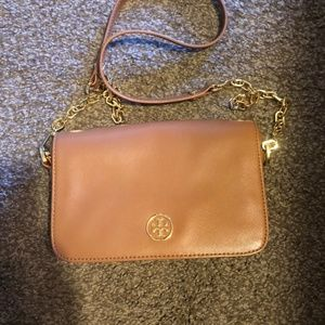 Camel colored Tory Burch cross body